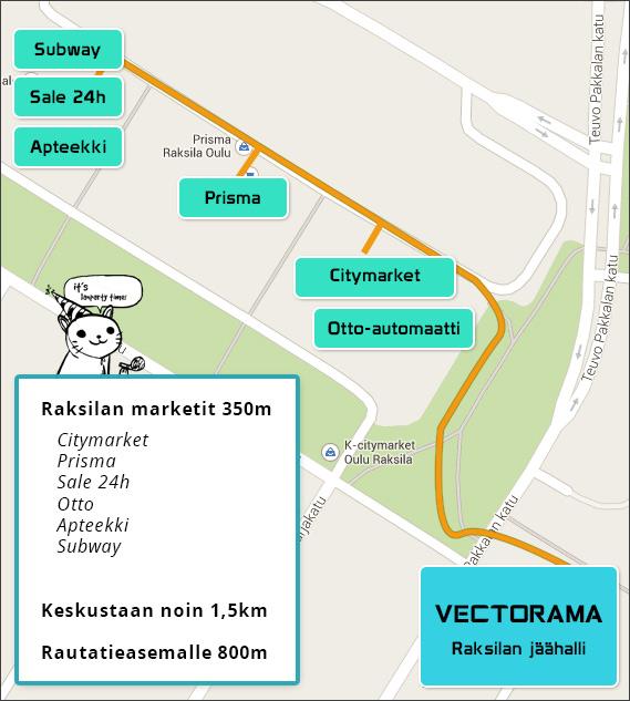 Vectorama ympäristön opaskartta