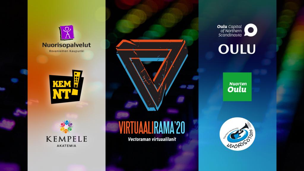 Virtuaalirama ja yhteistyökumppanit logoina